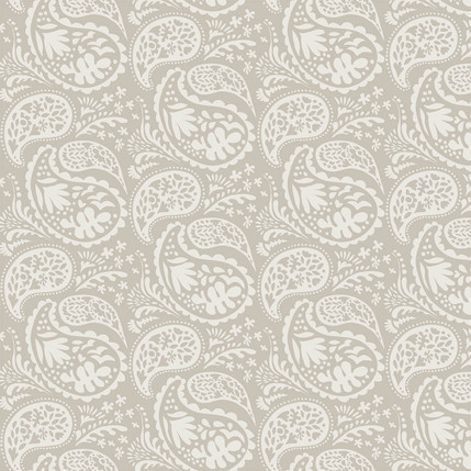 Matisse Paisley Grande Fabric Design (Taupe colorway)