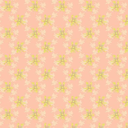 Brilliant Blossoms Fabric Design (Pink colorway)
