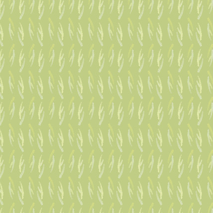 First Blooms Fabric Design (Olive colorway)