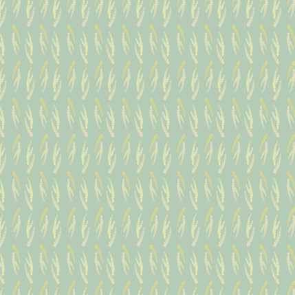 First Blooms Fabric Design (Slate Green colorway)