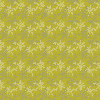 Grape Holly Fabric Design (Chartreuse colorway)