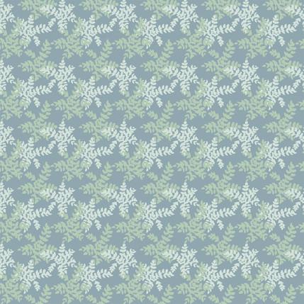 Grape Holly Fabric Design (Grey Blue colorway)