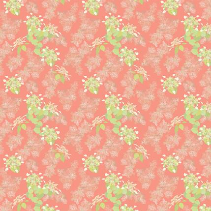 Lace Cap Fabric Design (Salmon colorway)