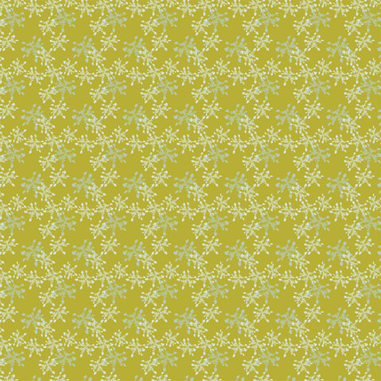 Lacey Silhouette Fabric Design (Chartreuse colorway)