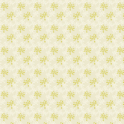 Lacey Silhouette Fabric Design (Cream colorway)