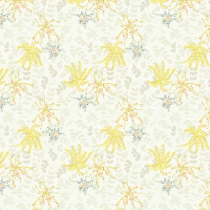 Mahonia Fabric Design (Cream colorway)