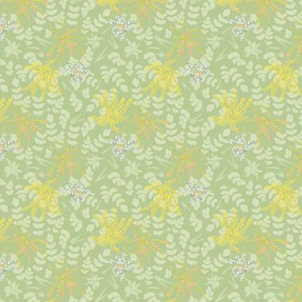Mahonia Fabric Design (Olive colorway)