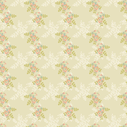 Bejewelled Berries Mini Fabric Design (Cream colorway)