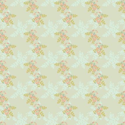 Bejewelled Berries Mini Fabric Design (Mint colorway)