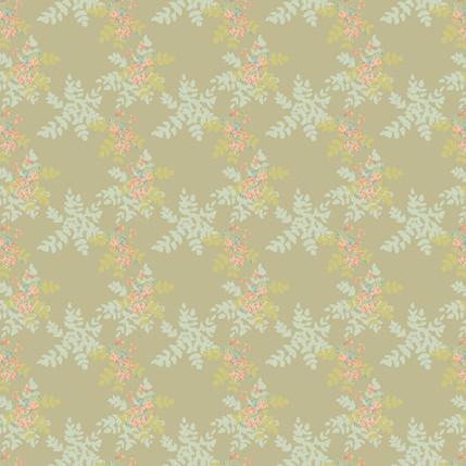 Bejewelled Berries Mini Fabric Design (Tan colorway)