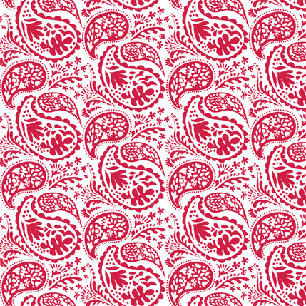 Matisse Paisley Grande Fabric Design (Holiday Red colorway)