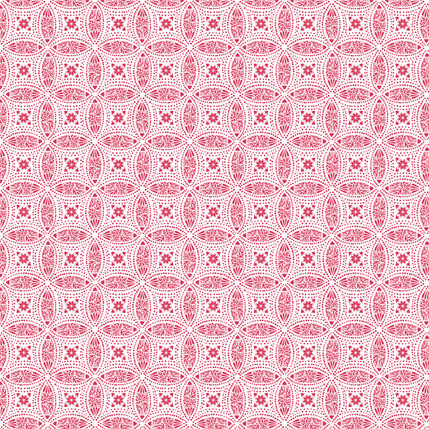 Overlapping Medallions Fabric Design (Holiday Red colorway)
