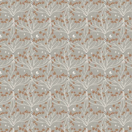 Root and Branch Mini Fabric Design (Beige colorway)