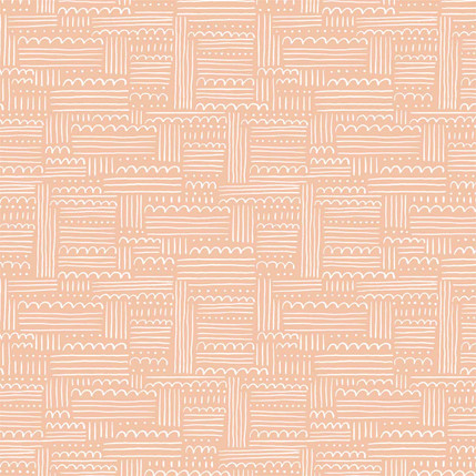 Dotty Clouds Fabric Design (Pink colorway)