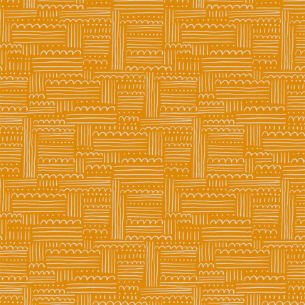 Dotty Clouds Fabric Design (Yellow colorway)