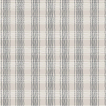 Oberon Plaid Fabric Design (Beige colorway)