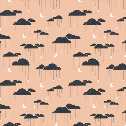 Clouds Fabric Design (Pink colorway)