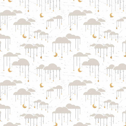 Clouds Fabric Design (White colorway)