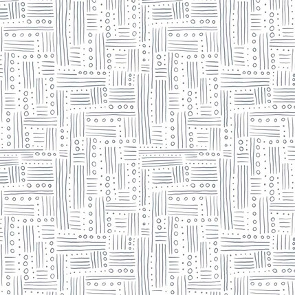 Dotty Lines Fabric Design (Black and White colorway)