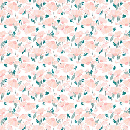 Falling Daisy Fabric Design (Tropical colorway)