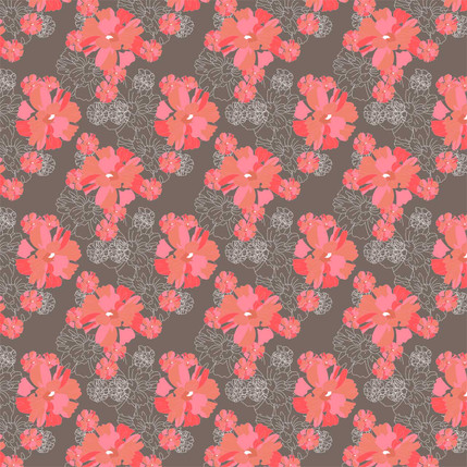 In Full Bloom Fabric Design (Wood colorway)