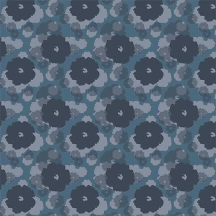 Soft Bloom (Indigo colorway)