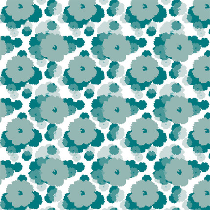 Soft Bloom Fabric Design (Ivy colorway)