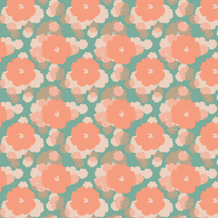 Soft Bloom Fabric Design (Tropical colorway)