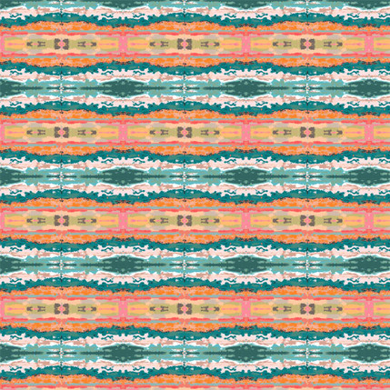 Flow Fabric Design (Tropical colorway)