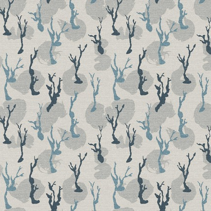 Lonely Trees Fabric Design (Light Grey colorway)