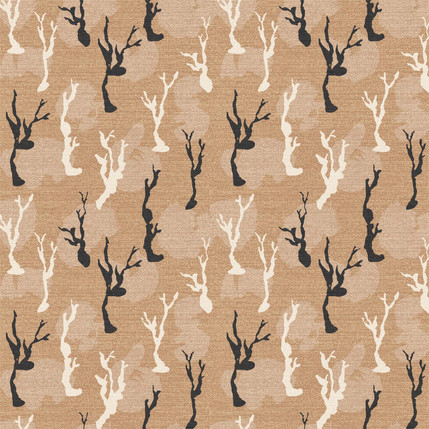 Lonelly Trees Fabric Design (Sand colorway)