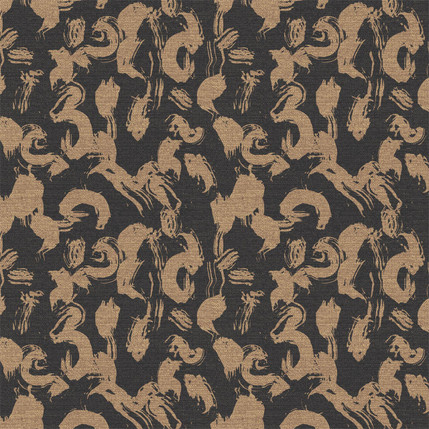 Calligraphy Paint Fabric Design (Ash colorway)