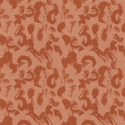Calligraphy Paint Fabric Design (Terracotta colorway)