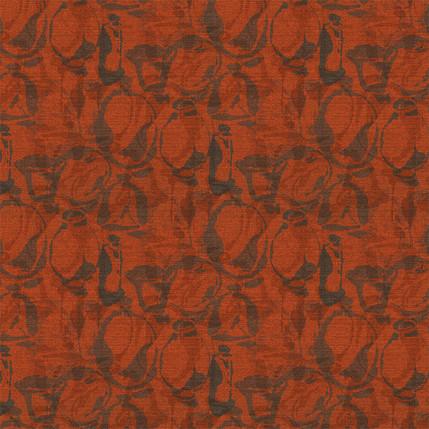 Artisan Vases Fabric Design (Burnt Red colorway)