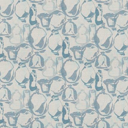 Artisan Vases Fabric Design (Light Grey colorway)