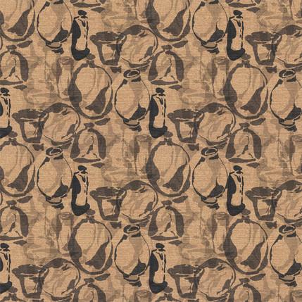 Artisan Vases Fabric Design (Sand colorway)