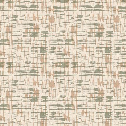 Calligraphy Plaid Fabric Design (Cream colorway)