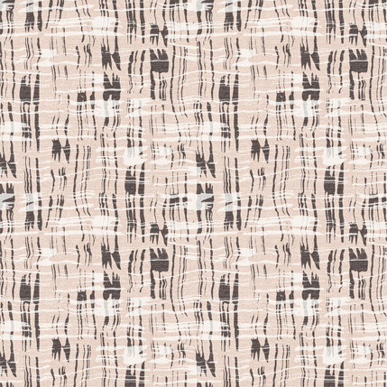 Calligraphy Plaid Fabric Design (Nude colorway)