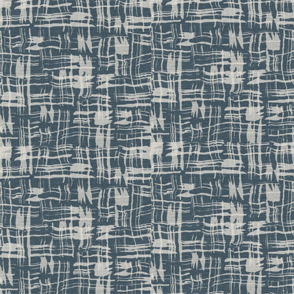 Calligraphy Plaid Fabric Design (Slate colorway)
