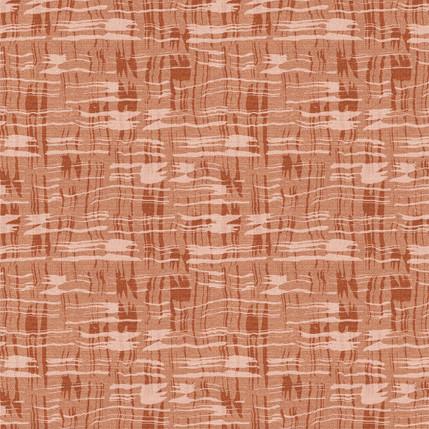 Calligraphy Plaid Fabric Design (Terracotta colorway)