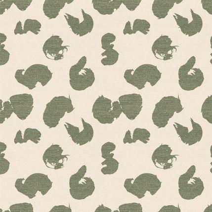 Calligraphy Trace Fabric Design (Cream colorway)