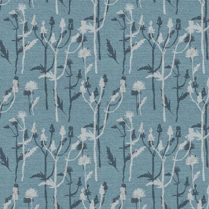 Wild Grass Fabric Design (Blue colorway)