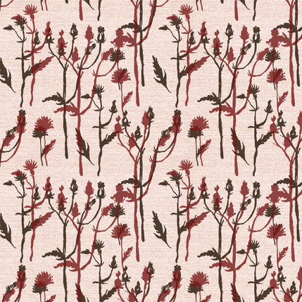 Wild Grass Fabric Design (Blush colorway)