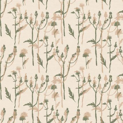 Wild Grass Fabric Design (Cream colorway)