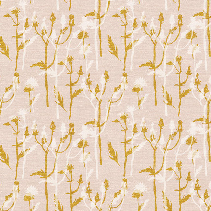 Wild Grass Fabric Design (Nude colorway)