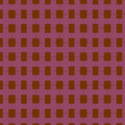 Breezeblock Plaid Fabric Design (Brick colorway)