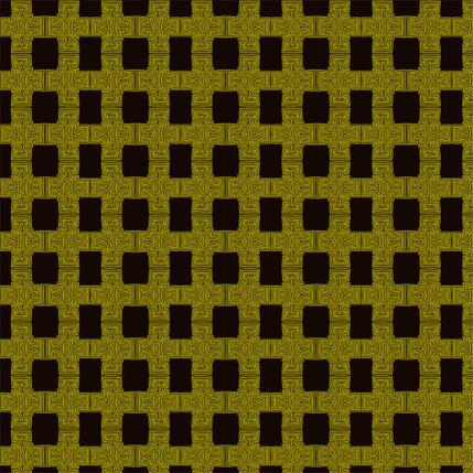 Breezeblock Plaid Fabric Design (Bumblebee colorway)