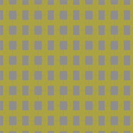 Breezeblock Plaid Fabric Design (Jasmine colorway)