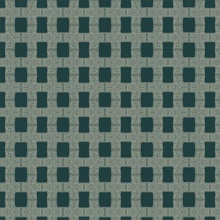 Breezeblock Plaid Fabric Design (Marine colorway)