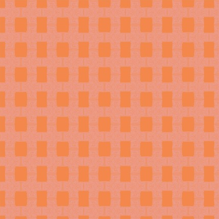 Breezeblock Plaid Fabric Design (Tangelo colorway)